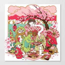 Happy Monsters Canvas Print