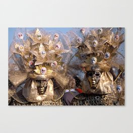 Masked Venetian Carnival Couple Canvas Print