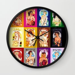 Zodiac Calendar Wall Clock