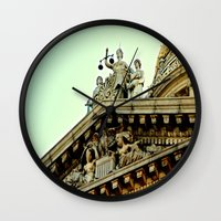 justice Wall Clocks featuring Lady Justice by Biff Rendar