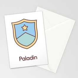 Cute Dungeons and Dragons Paladin class Stationery Cards