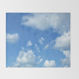 Blue sky and clouds Throw Blanket