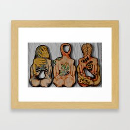 Innards Outwards Framed Art Print