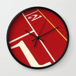 Running Track 123 Wall Clock