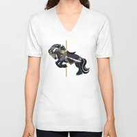 thorin V-neck T-shirts featuring Thorin, Carousel Pony by MarieJacquelyn