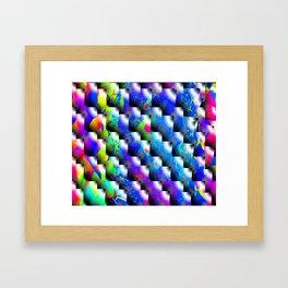 Colored Slot Tab Framed Art Print
