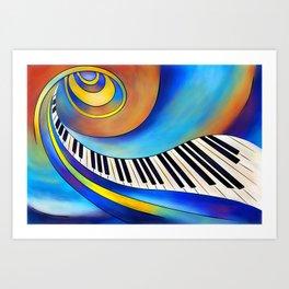 Redemessia - spiral piano Art Print