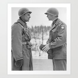 Generals Ridgway and Gavin - Battle of the Bulge Art Print