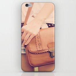 Vintage Leather Bag  iPhone Skin
