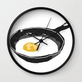 Egg in a Frying Pan Wall Clock