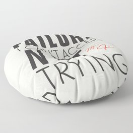 Michael Jordn quote, I can accept failure, I can't accept not trying, sport quotes, basketball Floor Pillow