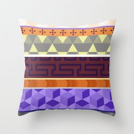 Multi Coloured Geometric Pattern Throw Pillow