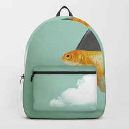 Goldfish with a Shark Fin (under a cloud) Backpack
