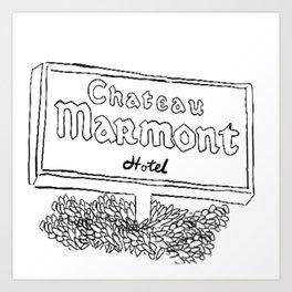 Chateau Marmont Sign Art Print