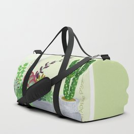 Cacti and Succulents on Greens Duffle Bag
