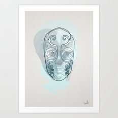 One line mask: Death eater's Art Print