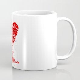 Shattered Lovers Heart Coffee Mug