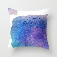 splatter Throw Pillows featuring Splatter by Courtney Burns