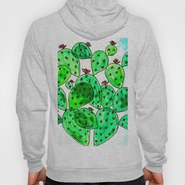 Cacti with marble sky Hoody