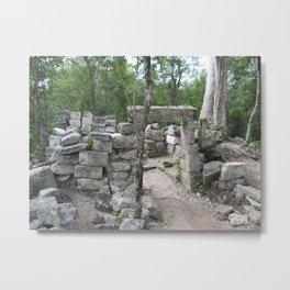 Mayan Ruins Metal Print