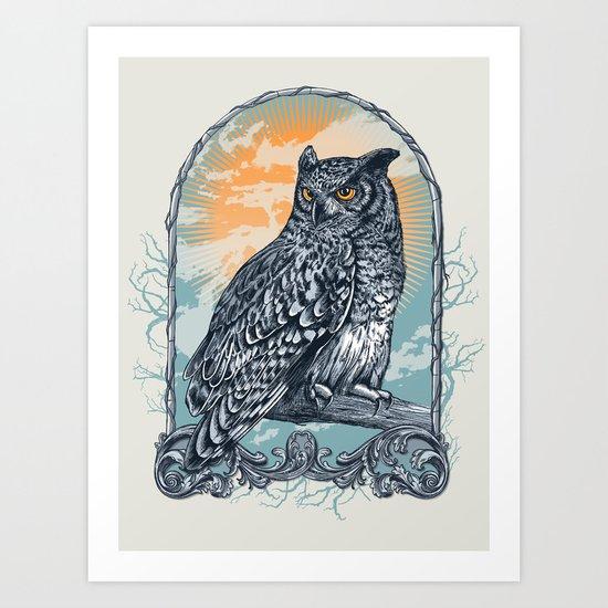 Twilight Owl Art Print