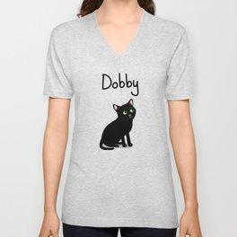 """Custom Cat Art """"Dobby"""" Unisex V-Neck"""