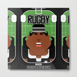 Rugby Black - Maul Propknockon - Aretha version Metal Print