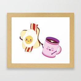 BFF Fun Eggs & Coffee with Bacon & Toast Framed Art Print