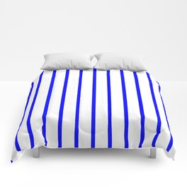 Vertical Lines (Blue/White) Comforters