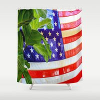 flag Shower Curtains featuring Flag by Jodi Kassowitz Photography