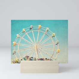 Boardwalk Ferris Wheel Mini Art Print