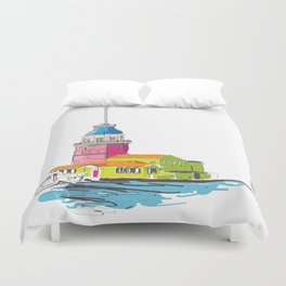 Maiden's Tower, Istanbul Duvet Cover