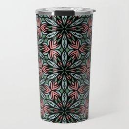Geometric Flowers Travel Mug