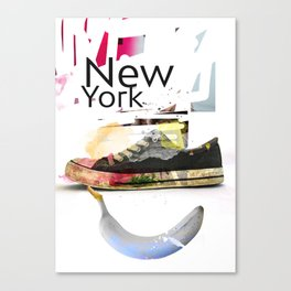 New York collage Canvas Print