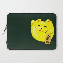 Neko Cat Yellow Laptop Sleeve