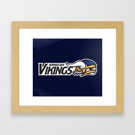 Norwegian Vikings Full Logo Framed Art Print