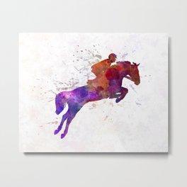Horse show 01 in watercolor Metal Print