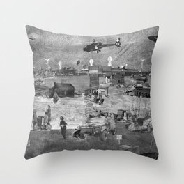 REMIX CITY: ROOSTER TOWN Throw Pillow