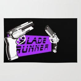 Time to die Version Neon Purple Rug