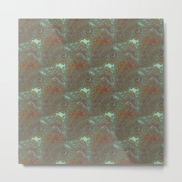 Kacha - Wild mandala pieces K of Alphabet collection Metal Print