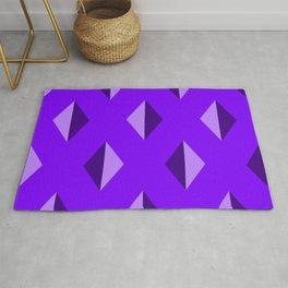 Geometry No. 2 -- Indigo Rug