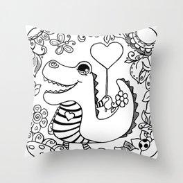 Stripy Cuties - Croco Throw Pillow