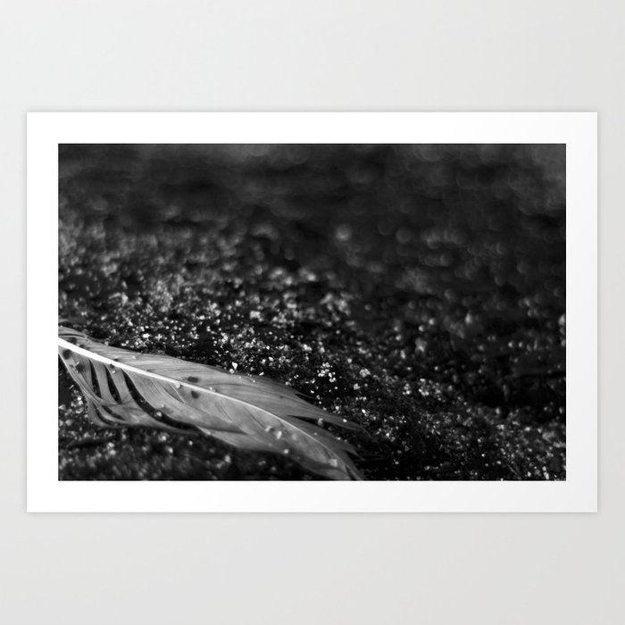 Feather in the sand v.2 Art Print