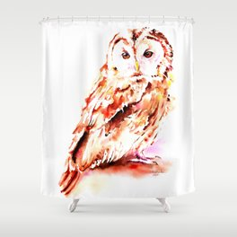 Strix aluco Shower Curtain
