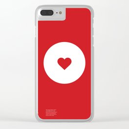 """""""Jammy Dodger"""" Biscuit poster Clear iPhone Case"""