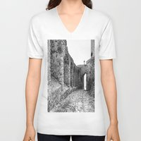 spain V-neck T-shirts featuring Castellar, Spain by Simon Ede Photography