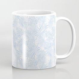 Pale Pastel Blue Monstera Leaves Coffee Mug