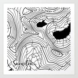 Snowdon Art Print