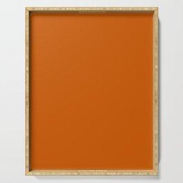 Burnt Orange - solid color Serving Tray