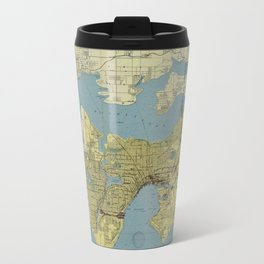 Port Of Seattle 1918 Travel Mug